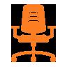 icona sedia ergonomica ufficio